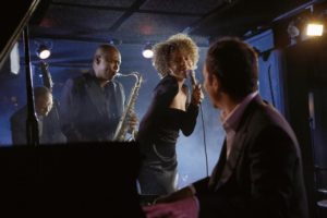 jazz musicians performing in club