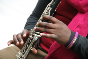 person playing clarinet