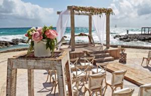 Wedding theme at sea beach